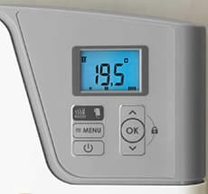 digital - LCD thermostat Atlantic Timelis Chrome